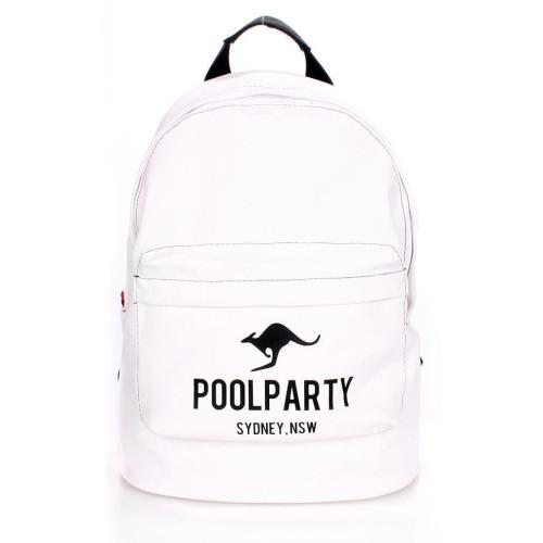 Рюкзак Poolparty backpack-kangaroo-white