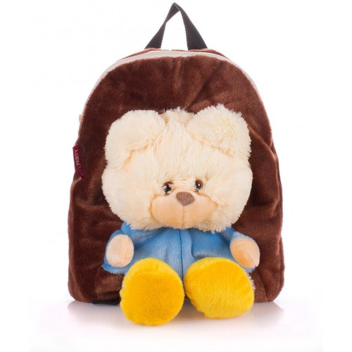 Рюкзак Poolparty kiddy-backpack-brown