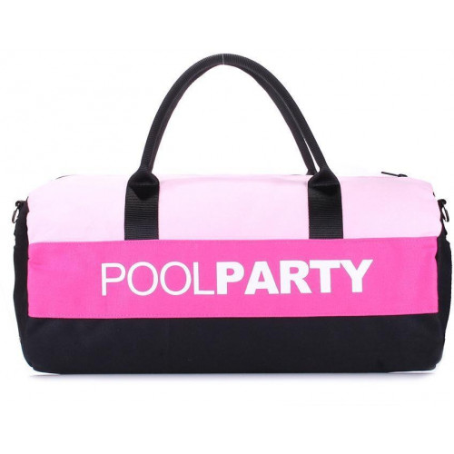 Сумка Poolparty gymbag-rose-pink-black