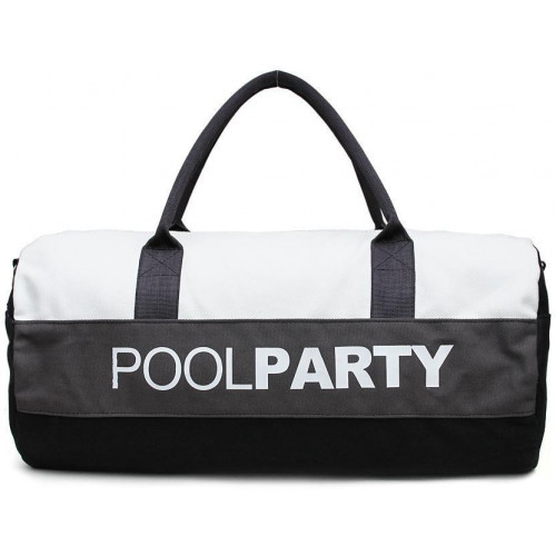 Сумка Poolparty gymbag-white-grey-black
