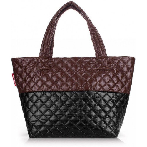 Сумка Poolparty broadway-quilted-brown-black