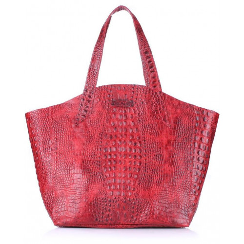 Сумка Poolparty fiore-crocodile-red