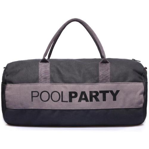 Сумка Poolparty gymbag-black-grey