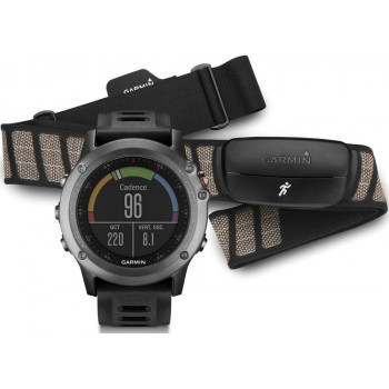 Смарт-часы Garmin Fenix 3 Gray Performer Bundle (010-01338-11)