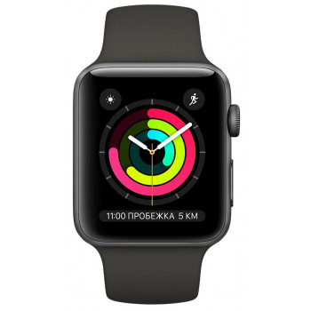 Смарт-часы Apple Watch Series 3 38mm Space Grey Aluminum Case with G...