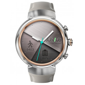 Смарт-часы ASUS ZenWatch 3 Silver Leather Beige (WI503Q-SC-LB)