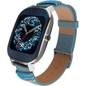 Смарт-часы ASUS ZenWatch 2 WI502Q Leather Swarovski edition Silver